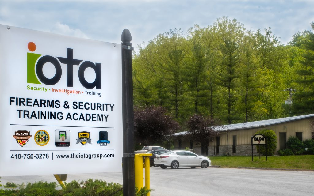 View of IOTA training academy in Maryland for firearms and HQL classes